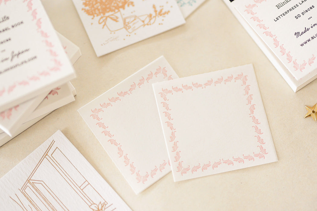 Blinks of Life - Letterpress Label Book - Regency Pink