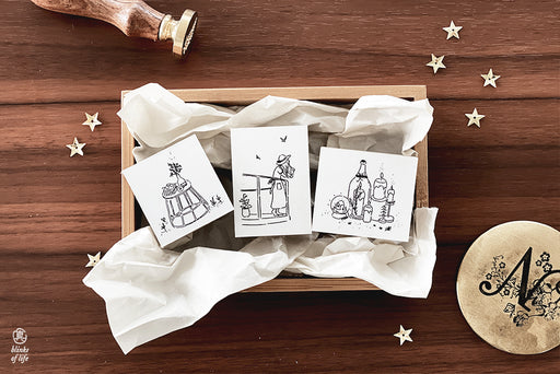 Blinks of Life - Hygge Home Collection - Rubber Stamp