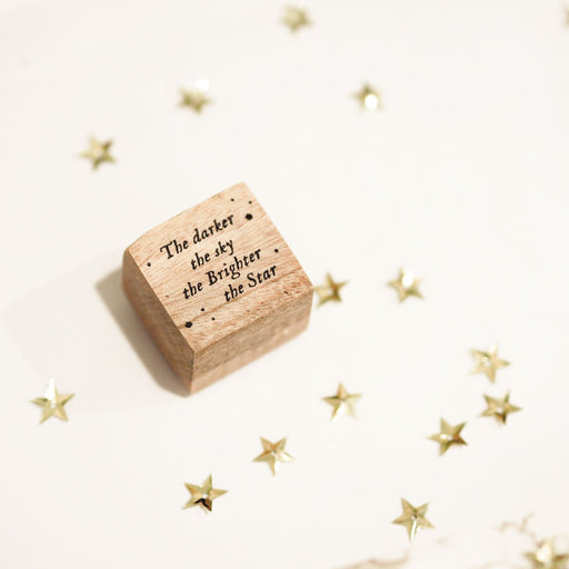Blinks of Life Journal Quote Stamp No. 10 | The Brightest Star