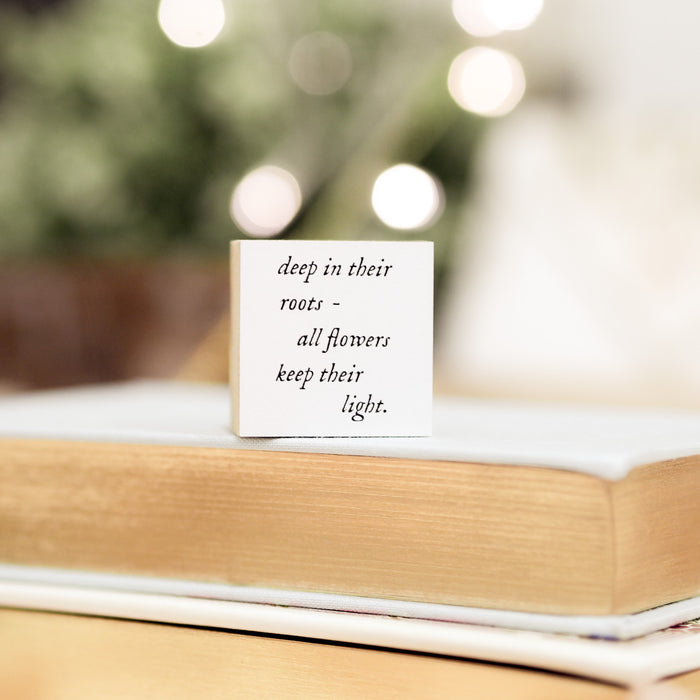 Blinks of Life Journal Quote Stamp - Keep Your Light