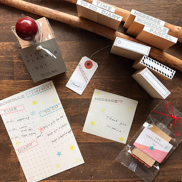 OSCOLABO Rubber Stamps Memo Note Diary To Do