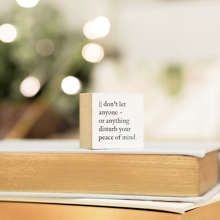 Blinks of Life Journal Quote Stamp - Peace of Mind