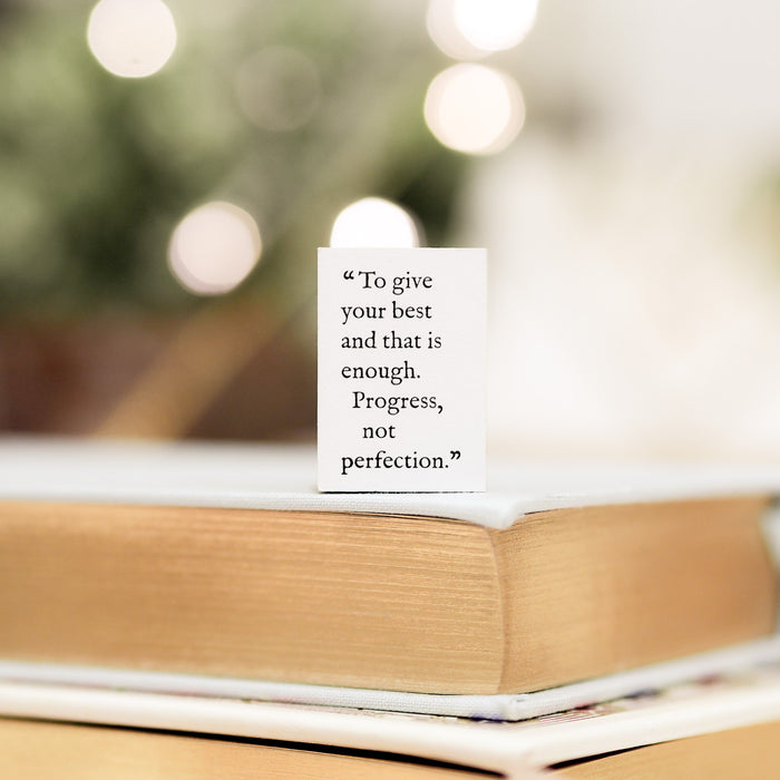 Blinks of Life Journal Quote Stamp - Progress Not Perfection