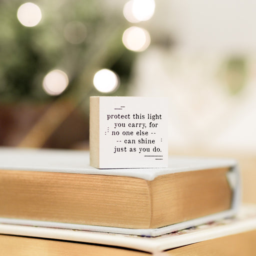 Blinks of Life Journal Quote Stamp - Protect This Light You Carry