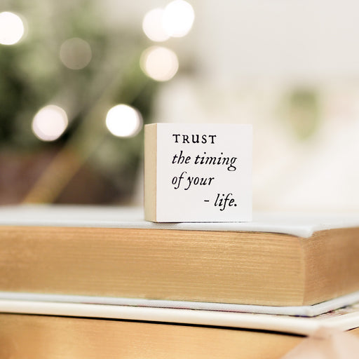 Blinks of Life Journal Quote Stamp - Trust The Timing of Your Life