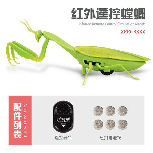 Infrared RC Remote Control Realistic Mini Mantis Insect Scary Trick Toy
