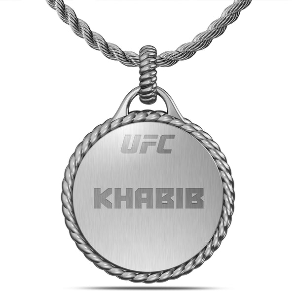 "Khabib ""The Eagle"" Nurmagomedov Rope Large Pendant In Sterling Silver"