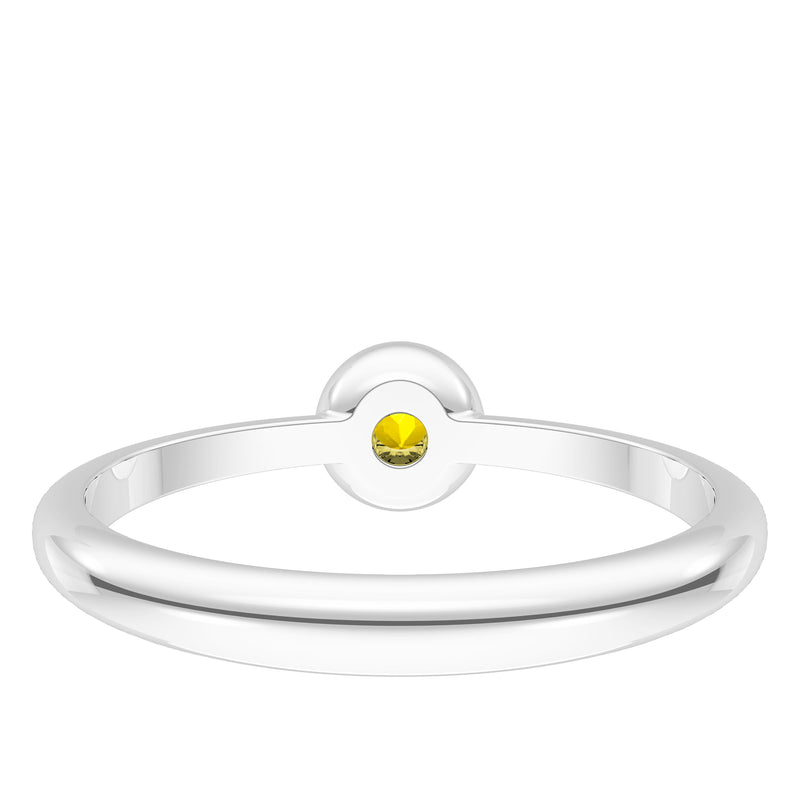 Pittsburgh Pirates Yellow Sapphire Engraved Ring In Sterling Silver