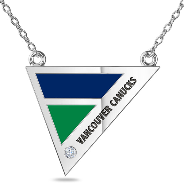 Vancouver Canucks Geometric Necklace In Sterling Silver