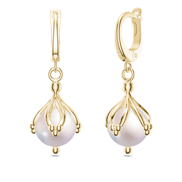 Bixlers Bixler 1785 Classics Diamond Dangle Earring In 14K Yellow Gold