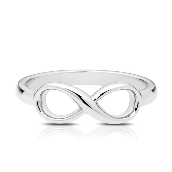 Bixlers Simplicity Diamond Infinity Ring In 14K White Gold
