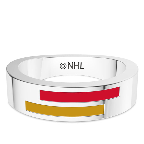 Ottawa Senators Asymmetric Enamel Ring In Sterling Silver