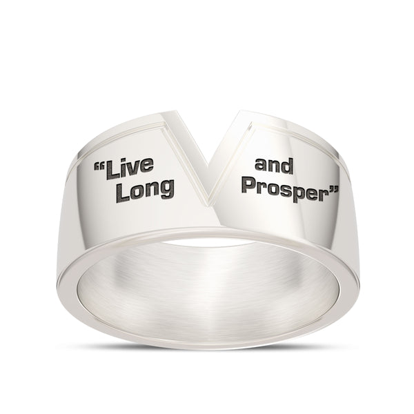 Star Trek Live Long And Prosper Ring In Sterling Silver