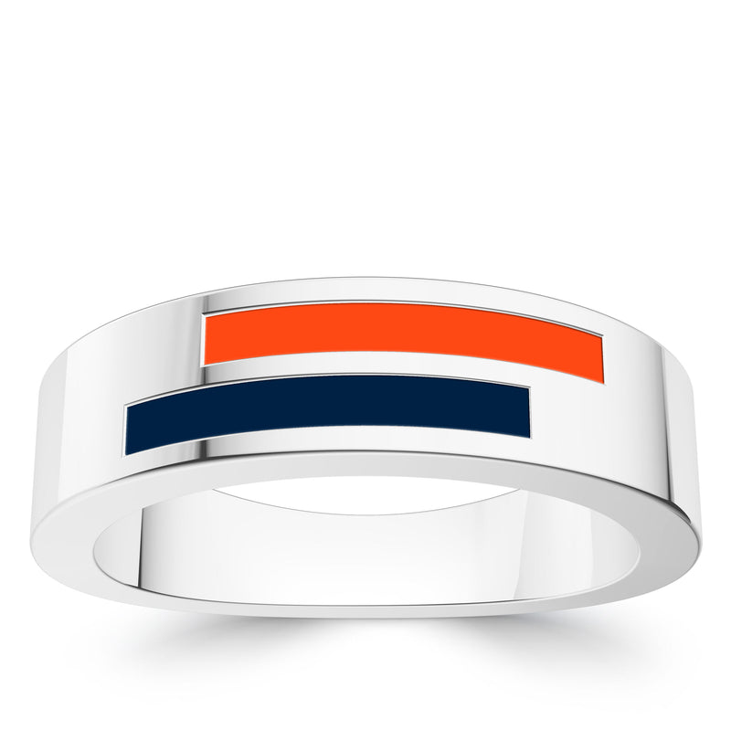 Detroit Tigers Asymmetric Enamel Ring In Sterling Silver