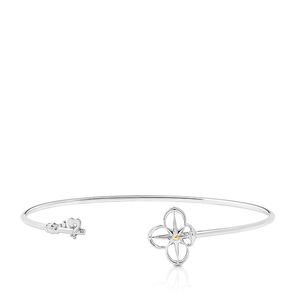 Bixlers Pure Love Key to the Home Cuff in Sterling Silver & 18K Yellow Gold