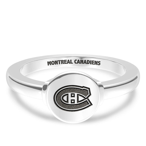 Montreal Canadiens Logo Engraved Ring In Sterling Silver