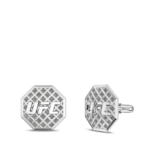 Ufc Octagon Cufflink In Sterling Silver