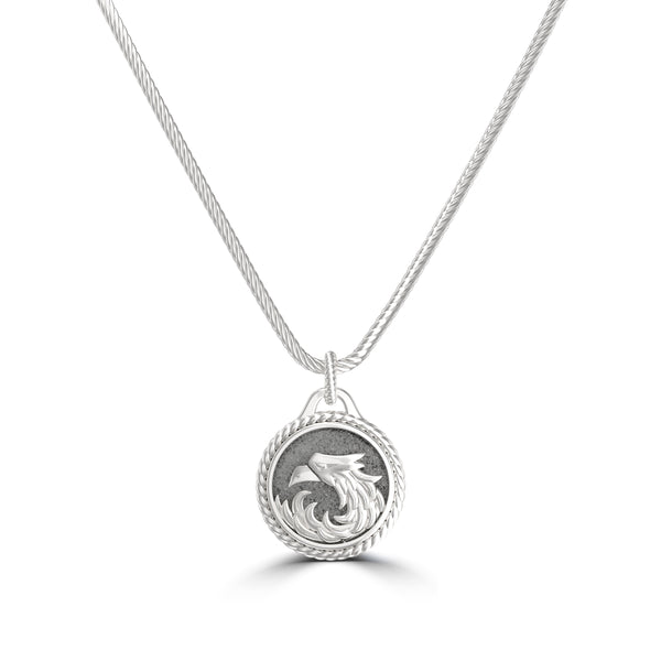 "Khabib ""The Eagle"" Nurmagomedov Rope Small Pendant In Sterling Silver"
