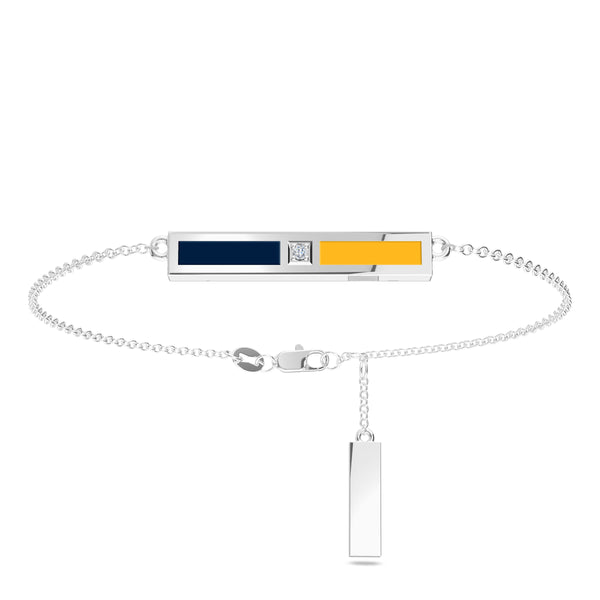 Buffalo Sabres Diamond Bar Bracelet In Sterling Silver