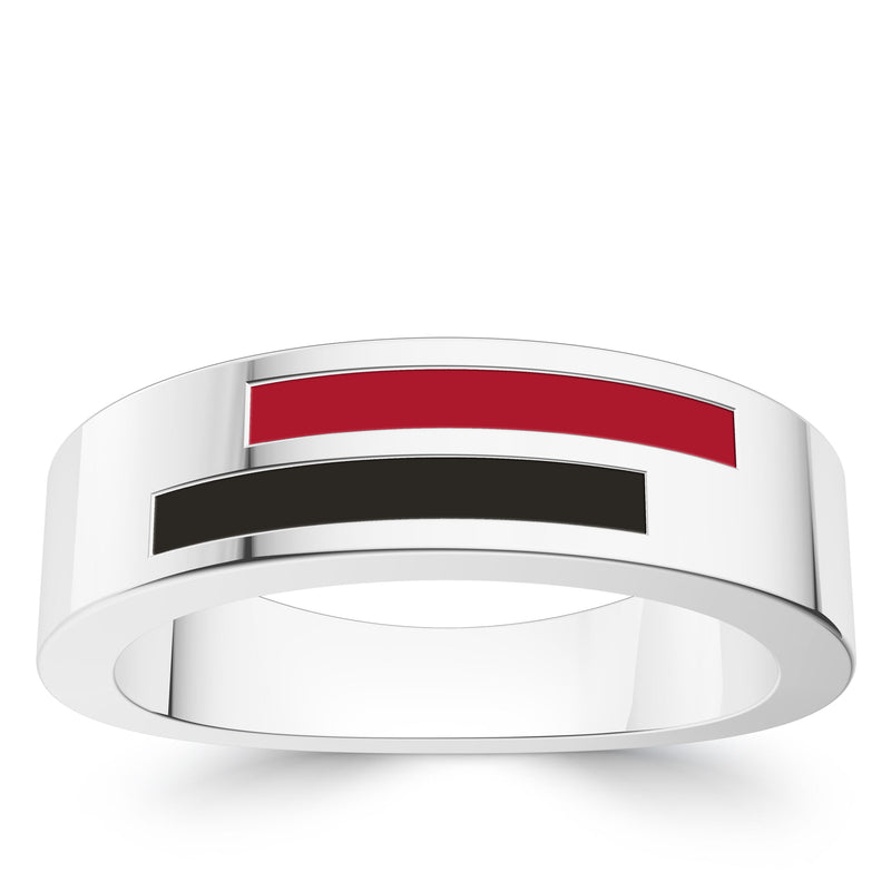 Arizona Diamondbacks Asymmetric Enamel Ring In Sterling Silver