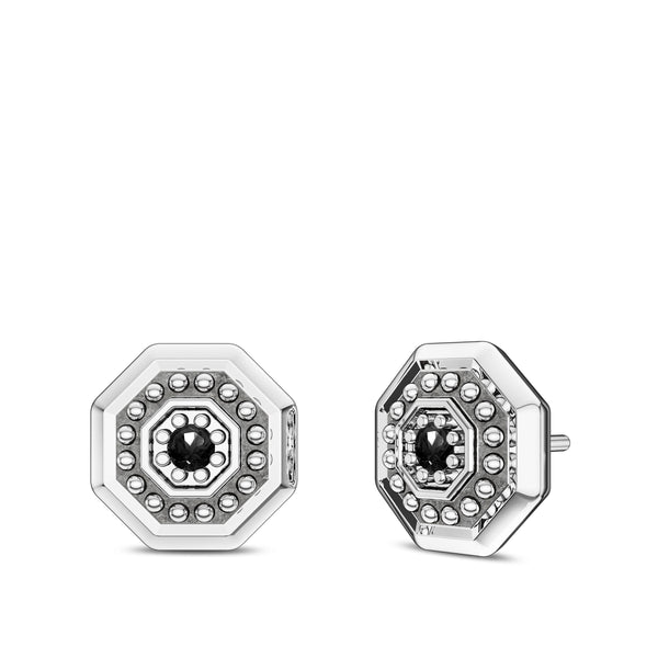 Ufc Diamond Deluxe Octagon Earring In Sterling Silver