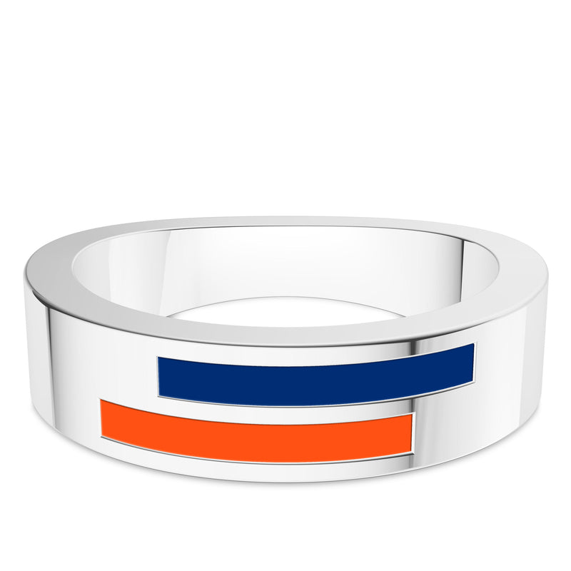 New York Mets Asymmetric Enamel Ring In Sterling Silver