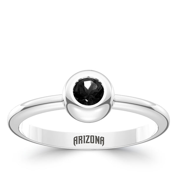 Arizona Diamondbacks Onyx Engraved Ring In Sterling Silver