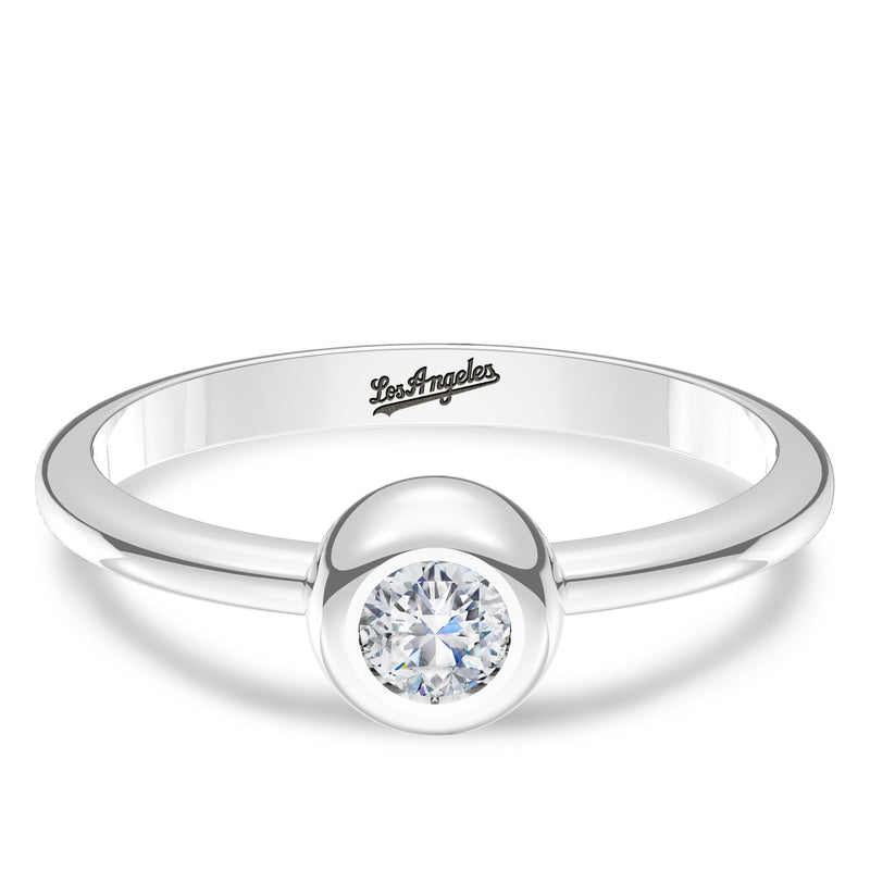 Los Angeles Dodgers Diamond Engraved Ring In Sterling Silver