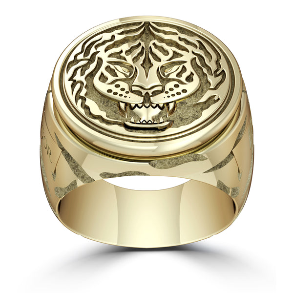 """The Notorious"" Conor Mcgregor Ring In 14K Yellow Gold"