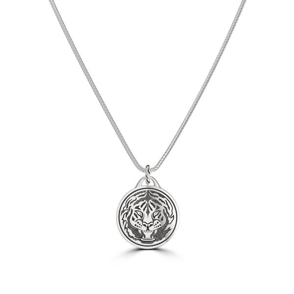 """The Notorious"" Conor Mcgregor Rope Tiger Pendant In Sterling Silver"