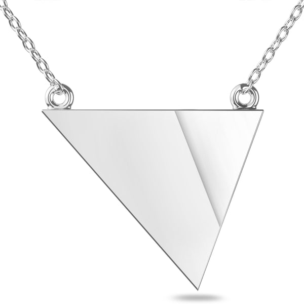 San Diego Padres Geometric Necklace In Sterling Silver