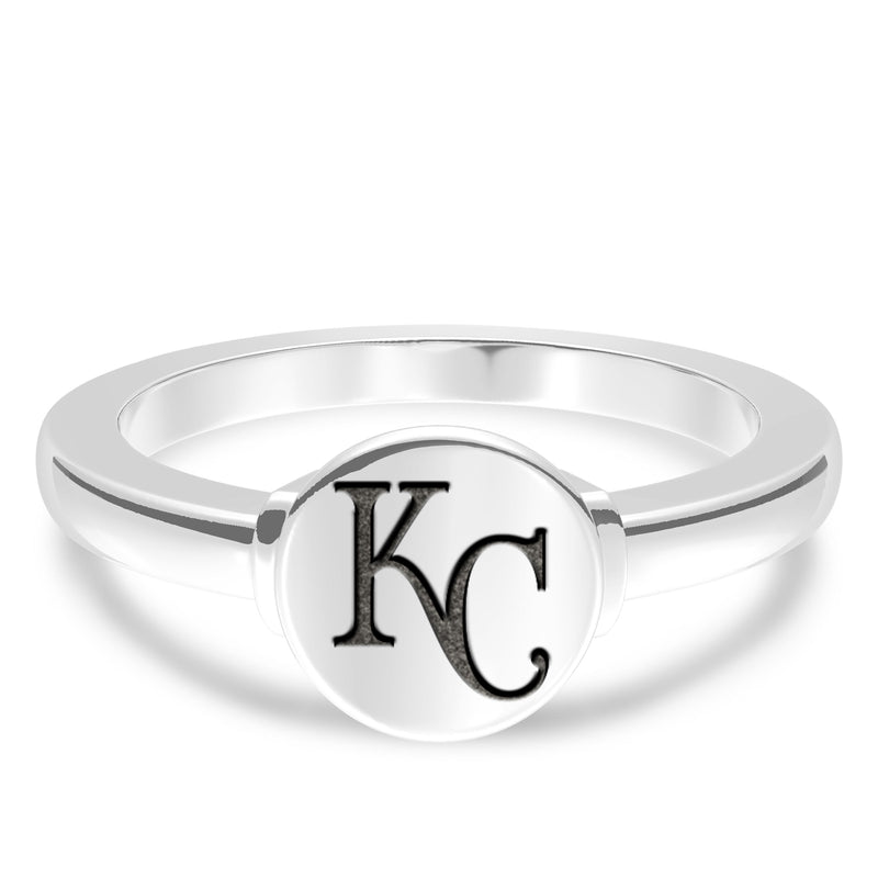 Kansas City Royals Logo Engraved Ring In Sterling Silver