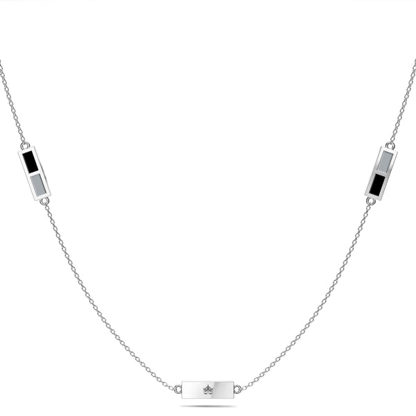 Los Angeles Kings Triple Station Necklace In Sterling Silver