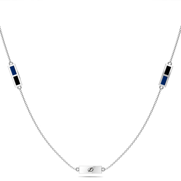 Tampa Bay Lightning Triple Station Necklace In Sterling Silver