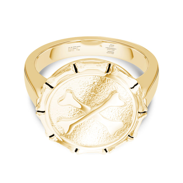 "Jon ""Bones"" Jones Large Ring In 14K Yellow Gold"