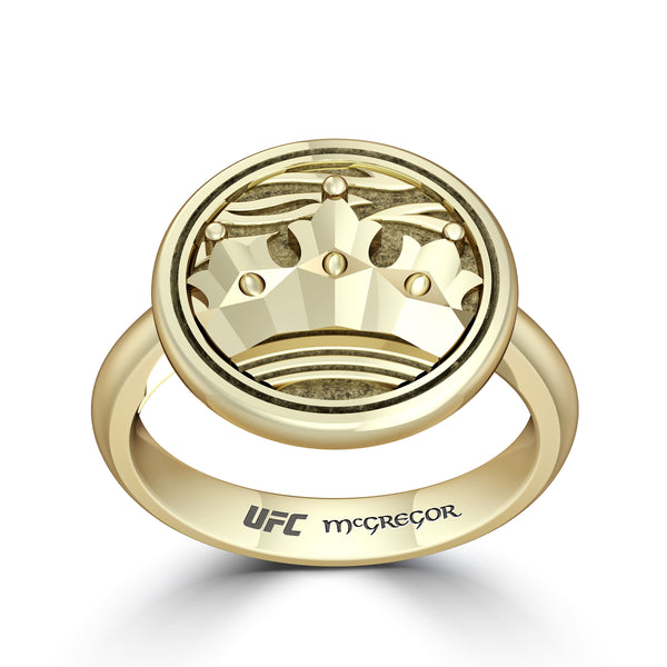 """The Notorious"" Conor Mcgregor Crown Ring In 14K Yellow Gold"