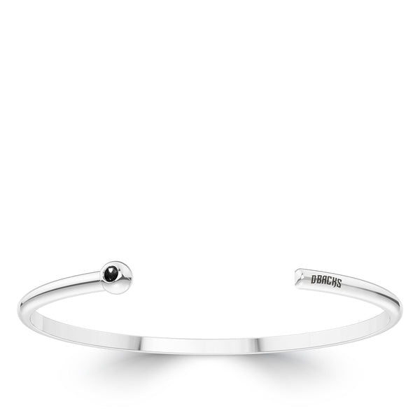 Arizona Diamondbacks Onyx Engraved Cuff Bracelet In Sterling Silver