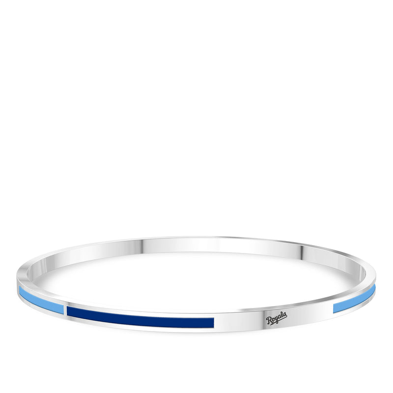 Kansas City Royals Engraved Two-Tone Enamel Bracelet In Sterling Silver