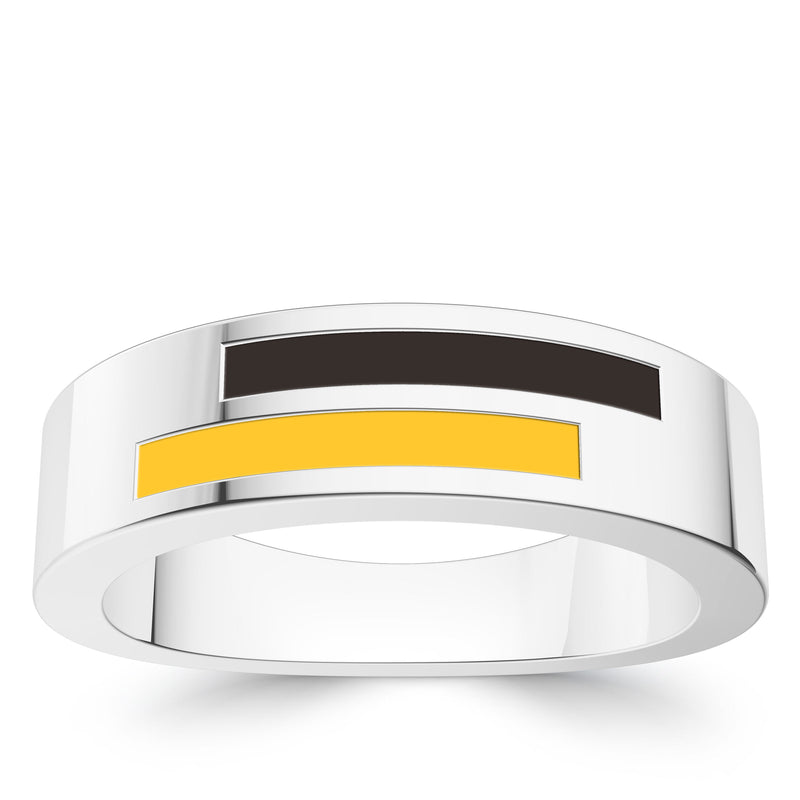 San Diego Padres Asymmetric Enamel Ring In Sterling Silver