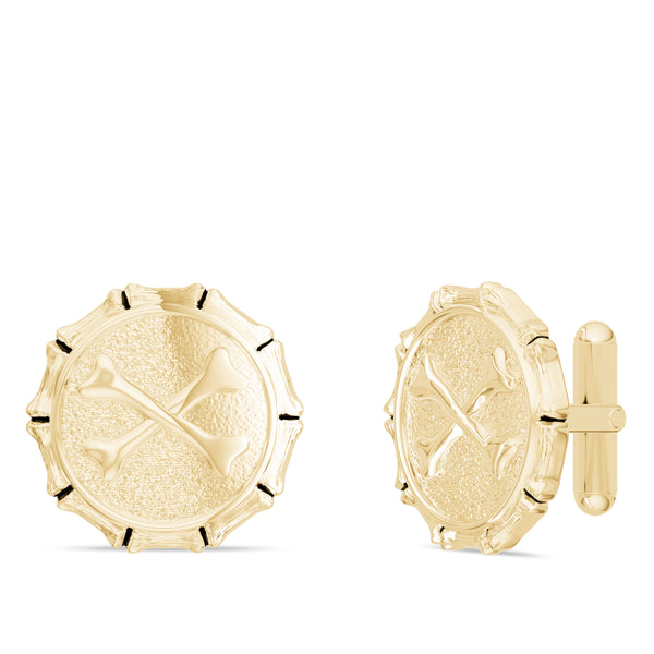"Jon ""Bones"" Jones Cufflink In 14K Yellow Gold"