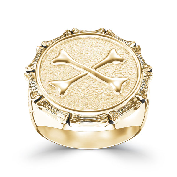 "Jon ""Bones"" Jones Small Ring In 14K Yellow Gold"