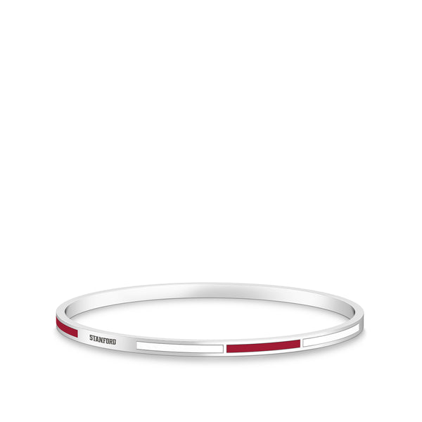Stanford University Engraved Two-Tone Enamel Bracelet In Sterling Silver