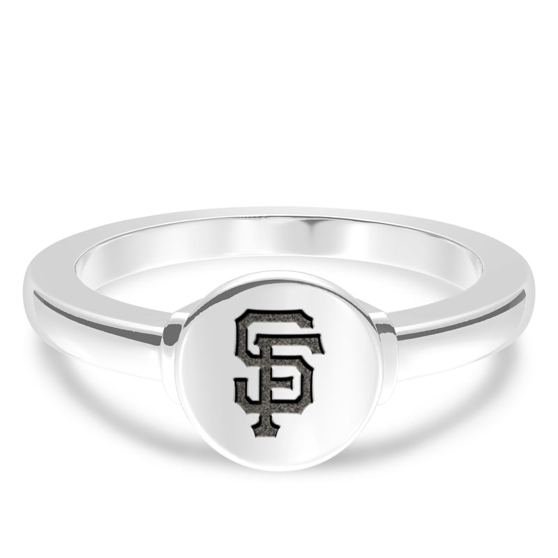 San Francisco Giants Logo Engraved Ring In Sterling Silver