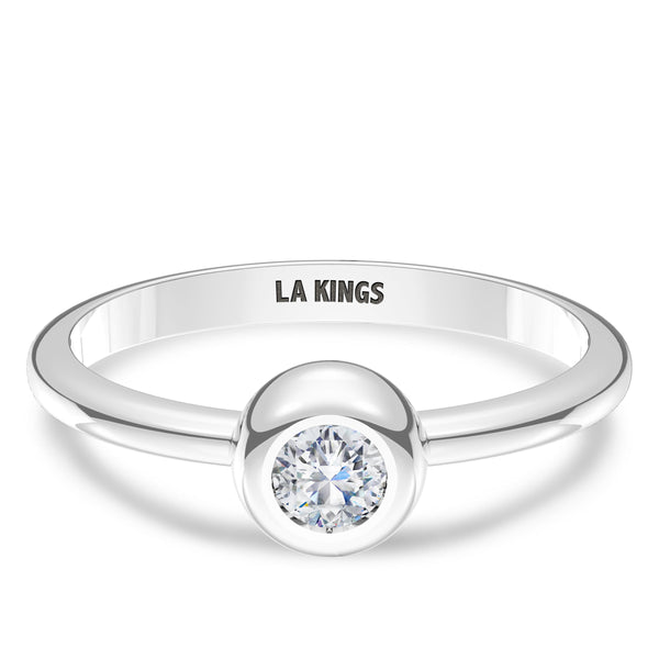Los Angeles Kings Diamond Engraved Ring In Sterling Silver