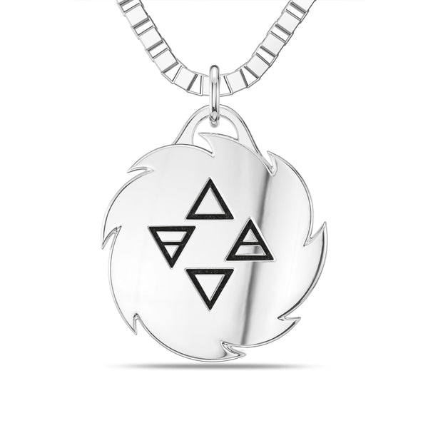 "Israel ""The Last Stylebender"" Adesanya Rope Small Pendant In Sterling Silver"