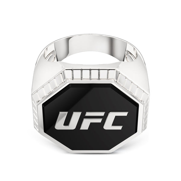 Ufc Octagon Enamel Ring In Sterling Silver