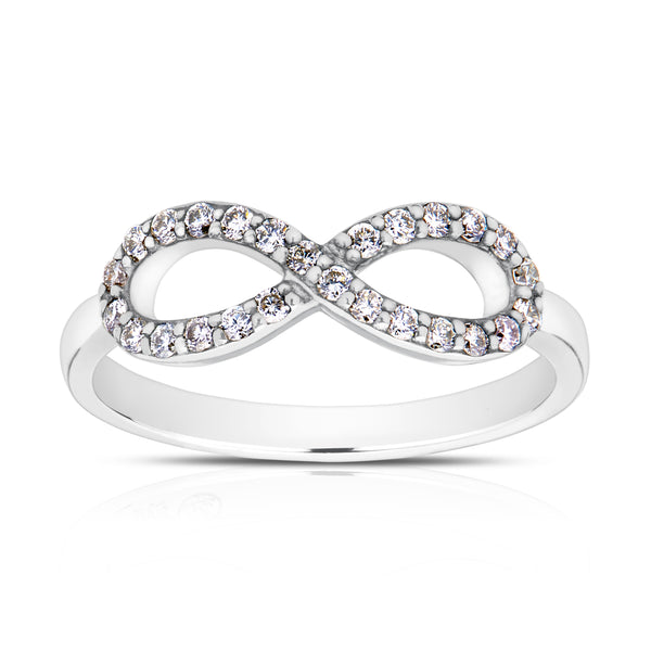 Bixlers Pure Love Diamond Infinity Ring In 14K White Gold