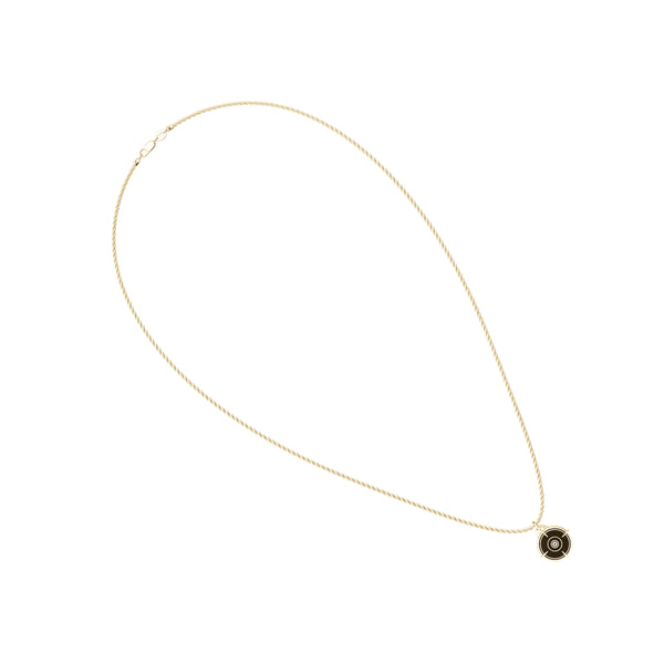 "Valentina ""Bullet"" Shevchenko Rope Small Pendant In 14K Yellow Gold"