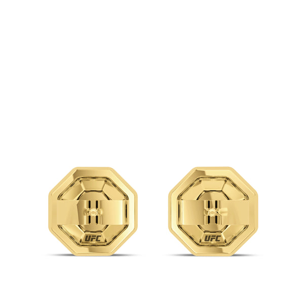 Ufc Garnet Deluxe Octagon Earring In 14K Yellow Gold