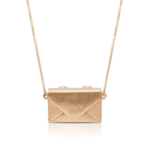 Bixlers Pure Love Diamond Love Letter Necklace In 14K Yellow Gold